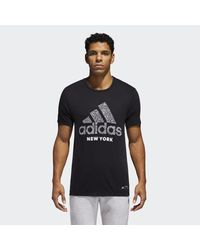 Adidas Black S Badge Of Sport Classic Graphic Tee for men