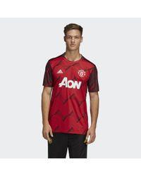 Adidas Manchester United Pre-match Shirt in het Red voor heren