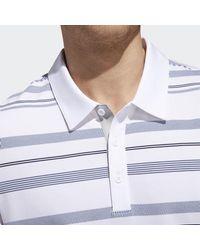 Adidas White Ultimate Novelty Stripe Polo Shirt for men