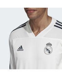 Training Top Real Madrid Adidas pour homme en coloris White