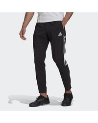 Adidas Black Tiro 21 Woven Tracksuit Bottoms for men