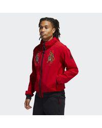 Adidas Must Haves Windbreaker in Red für Herren