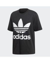 Adidas T-shirt Oversized Tee in het Black voor heren