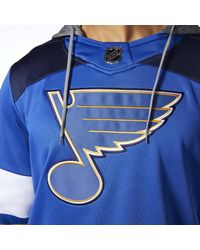 Adidas - Blues Jersey Replica Pullover Hoodie - Lyst