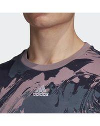 Camiseta ID Allover Print Adidas de hombre de color Multicolor