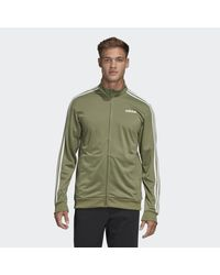 Adidas Green Essentials 3-stripes Tricot Track Top for men