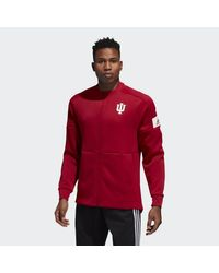 Adidas Red Hoosiers Game Mode Bomber Jacket for men