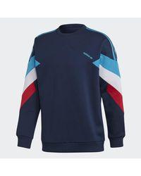 Adidas Blue Palmeston Navy Crew Neck Sweatshirt for men