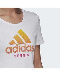 Adidas White Category Tee