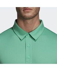Adidas Green Climachill Polo Shirt for men