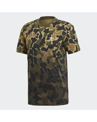 Adidas - Green Camouflage Tee for Men - Lyst
