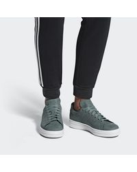 Adidas - Green Stan Smith New Bold Shoes for Men - Lyst