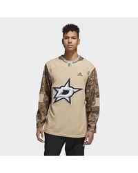 Stars Camo Authentic Jersey di Adidas in White da Uomo