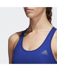 Adidas Blue Don't Rest Alphaskin Sports Bra