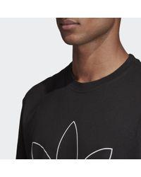 Adidas Outline T-Shirt in Black für Herren