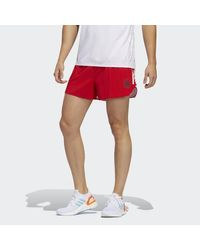 Adidas Red Boston Marathon® Run Split Shorts for men
