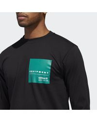 Adidas Black Eqt Graphic Tee for men