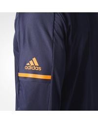 Adidas - Blue Oilers Authentic Pro Jacket for Men - Lyst