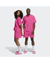 Adidas Pink Pharrell Williams Basics Shorts – Genderneutral