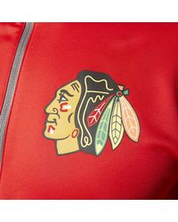 Adidas - Red Blackhawks Track Jacket for Men - Lyst