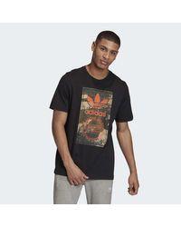 Adidas Black Camo Tongue T-shirt for men