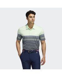 Adidas Ultimate365 Gradient Block Stripe Poloshirt in Green für Herren