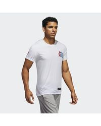 Adidas White Cleofus Support All Teams Tee for men