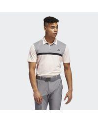 Adidas Novelty Colorblock Poloshirt in het Gray voor heren