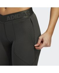 Adidas Green Alphaskin Utility Long Tights