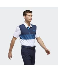 Adidas White Ultimate365 Gradient Polo Shirt for men