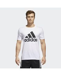 Adidas White Badge Of Sport Big And Tall Classic Tee for men