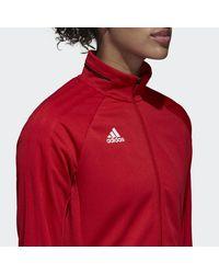 Giacca Tiro 17 Training di Adidas in Red