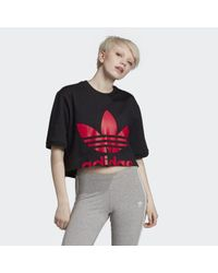 Adidas Black Cropped T-Shirt
