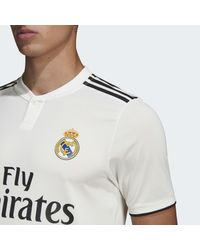 Maillot Real Madrid Domicile Authentique Adidas pour homme en coloris White