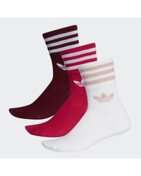 Calcetines clásicos Mid-Cut Adidas de color Red