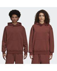 Adidas Brown Pharrell Williams Basics Hoodie (gender Neutral)