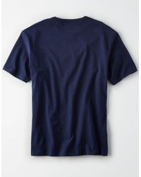 American Eagle - Blue Ae Oversized Soft Brushed Cotton Tee for Men - Lyst