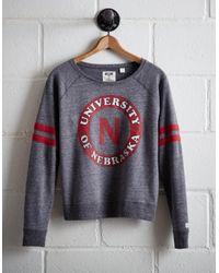 Tailgate Gray Women's Nebraska Fleece Sweatshirt