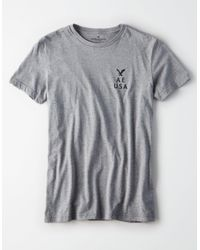American Eagle - Gray Ae Graphic Icon T-shirt for Men - Lyst