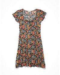 American Eagle Black Button Up Mini Dress - Dresses