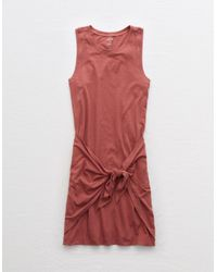 American Eagle Red Knot Tank Dress