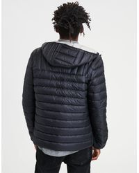 American Eagle - Black Ae Lightweight Packable Puffer Jacket for Men - Lyst