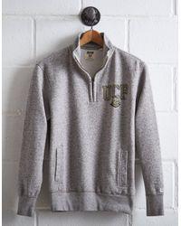 Tailgate Gray Men's Ucf Half-zip Fleece Popover for men
