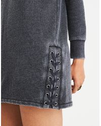 American Eagle - Black Ae Active Lace Up Side Seam Dress - Lyst