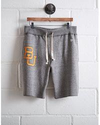 Tailgate Gray Men's Baylor Bears Cut-off Fleece Short for men
