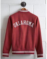 Tailgate Red Men's Oklahoma Bomber Jacket for men