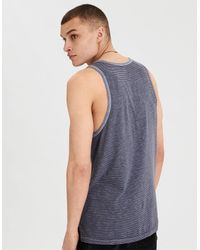 American Eagle Blue Ae Graphic Tank for men