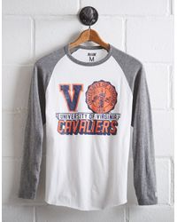 Tailgate White Men's Uva Cavaliers Baseball Shirt for men