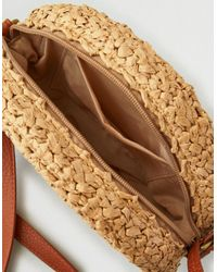 American Eagle Natural Round Straw Crossbody Purse