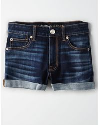 American Eagle Blue Ae High-waisted Shortie
